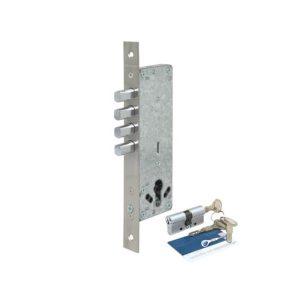 Fechadura auxiliar de 04 pinos perfil estreito 40 mm ref. 60095
