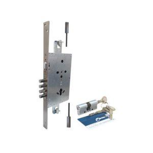 Fechadura de Segurança 04 pinos Rolete com kit Piso Teto ref. 70292
